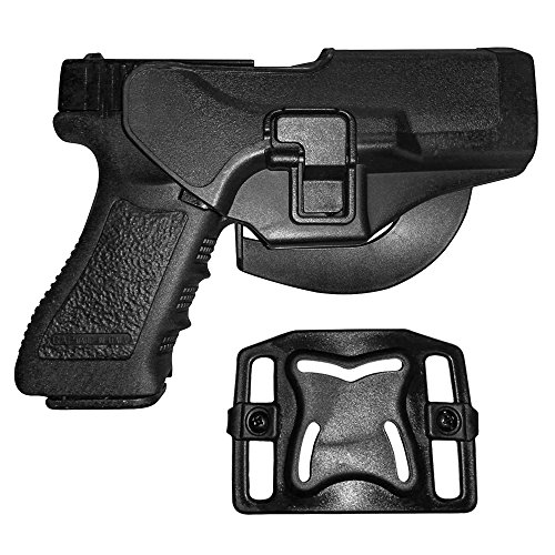 Holster de Ceinture - IMAGE Etui de Revolver pour Glock 17/22/31 - conçu pour Main droite - Holster de Pistolet, Airsoft, Gun militaire - Etui de Police, Chasse, Sport, Combat