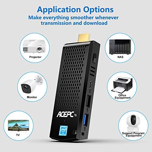 Mini-Computer-Stick mit 8 GB DDR3L 128 GB ROM, Intel Atom x5-Z8350 Windows 10 Pro Lüfterloser PC-Stick Unterstützung für 4K HD, Bluetooth 4.2 und Dual Band WiFi 2.4G / 5.0G