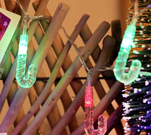 Solar arrangierende Modellierung Lichterkette Weihnachtsdekoration Krücke im Freien wasserdichten Innenhof Weihnachtsbaum LED Farbe 10LED