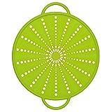 Emsa 514557 - Coperchio antischizzi 5 in 1 in Silicone/Inox, 26 cm, colore: Verde...