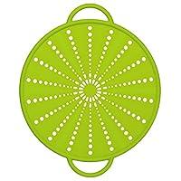 Emsa 514557 - Coperchio antischizzi 5 in 1 in Silicone/Inox, 26 cm, colore: Verde