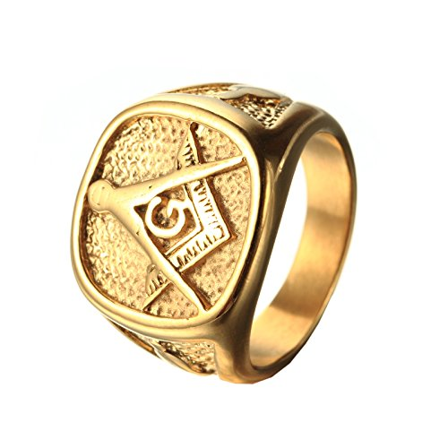 gold plated masonic rings