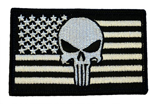 American Tactical Supply Co. American Flag Patch, Silver