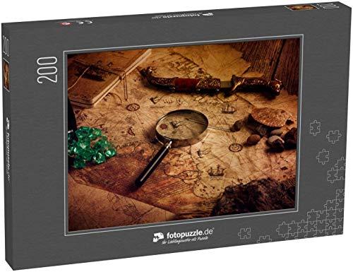 Puzzle 200 Teile sehr alte Weltkarte , Ottomanische Karte , Weltkarte von Piri Reis - Klassische Puzzle, 1000 / 200 / 2000 Teile, edle Motiv-Schachtel, Fotopuzzle-Kollektion 'Nostalgie'