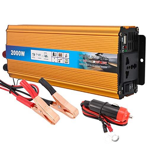 Coche Solar Inverter 2000W Peaks Inverter DC 12V 24V 48V 60VTO Convertidor De Inversor De Corriente Del Coche Voltaje AC 220V Y 2 3.1A Adaptador De Corriente De Aut 60V-2000w