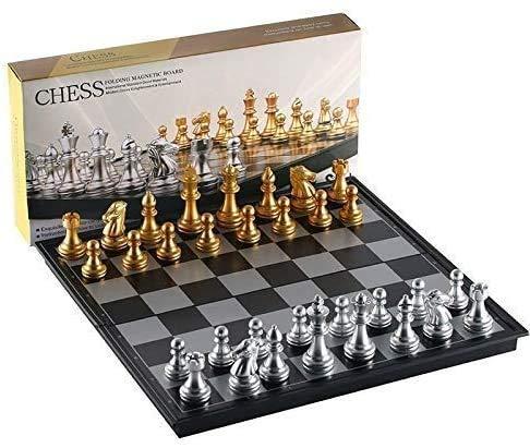 Chess Juego de tablas plegables magnético de viaje para niños o adultos juego de mesa 25 x 25 cm ZSMFCD