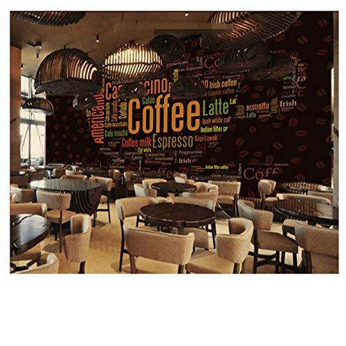 Lovemq 3D Foto Tapeten Alphabet Kaffeetasse Kaffeestube Dekorative Hintergrundbild Für Wände 3D Papier Peint-200X130Cm