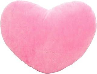 Amyseller - Cojín decorativo de algodón con forma de corazón