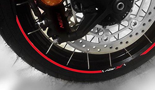 Tiras Adhesivo para Ruedas Compatible para Moto Scooter Honda X-ADV 750 Xadv - Rojo