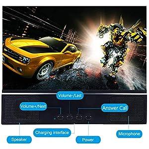 DAXGD Lupa de Pantalla con Altavoz para teléfono Inteligente, Lupa de teléfono Inteligente con Lupa de Pantalla 3D de 12 Pulgadas, Amplificador de teléfono