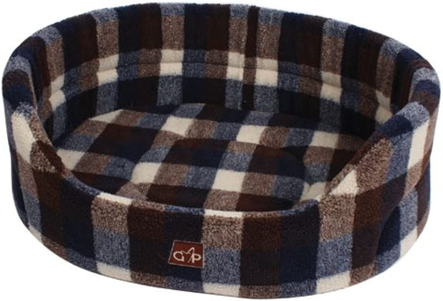 Gor Pets Highland Bed Washable Comfortable Dog Bed, 28inch, Autumn Check