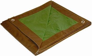 DRY TOP 11012 Marrom/Verde 3,5 m x 3,5 m Reversível Tamanho Real 7 mm Item #110128, 3,5 x 3,5 m