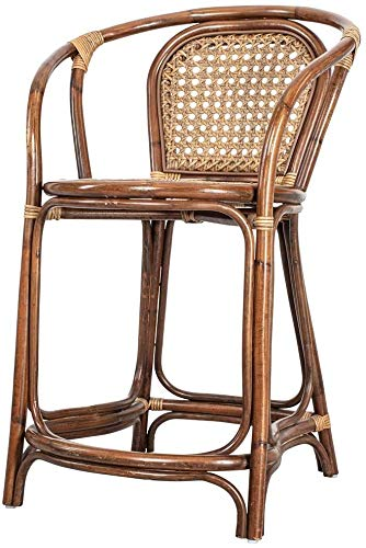 Rikmani Bali Furniture Bar Stool Natural Rattan Handmade Garden Furniture Set