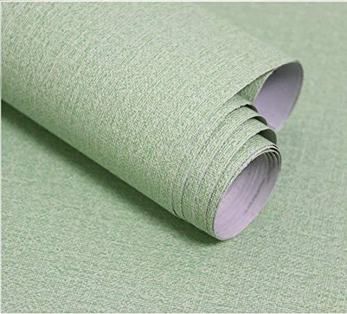 Grüne Grasscloth Tapete, abziehen und aufkleben, selbstklebende Tapete, abnehmbar, wasserdicht, Leinentapete für Zuhause, Schlafzimmer, Wohnzimmer, Schränke, Dekortapete, Vinyl-Rolle