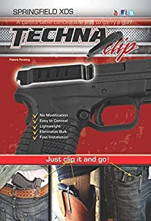 Techna Clip MAIN-41535 Pocket & IWB Holster Gun Belt Clip-Springfield XDS (Right-Side), 100, Black