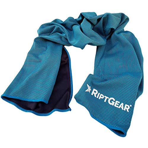 RiptGear Instant Cooling Towel - Ultra Thin Lightweight Design for Fitness and Exercise, Gym, Yoga, Sports, Pilates, Travel, Running and Hiking - Light...