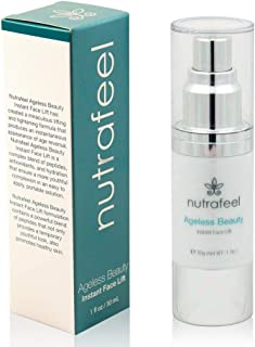 Ageless Beauty Instant Face Lift with Hyaluronic Acid | Acai Extract | Argireline | Matrixyl 3000 - Drastically Reduces Eye Bags, Wrinkles, Lines & Puffiness | Tighten Skin Instantly (30mL)