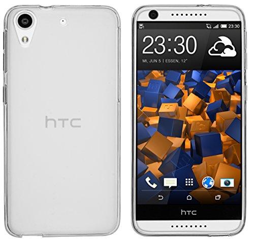 mumbi Hülle kompatibel mit HTC Desire 626G Handy Case Handyhülle, transparent Weiss