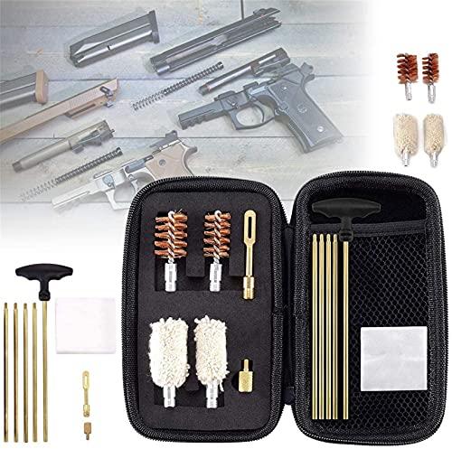 wsbdking Kit de Limpieza de Escopeta compacta, Kit de Metal Pieza Barra de Limpieza de latón, para Kit de escopetas de Calibre de 12 y 20 Cepillo y trapeador, Regalo para Amante de Armas