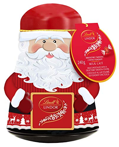Lindt Lindor Christmas Snowman Wobble Tin Assorted Chocolate, Gift, 240g, 240 Grams