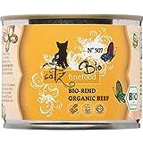catz finefood Cibo biologico per gatti di manzo – N° 507 – Alimento umido per gatti – 6 x 200 g – Senza cereali e zucchero aggiunto (1,2 kg)