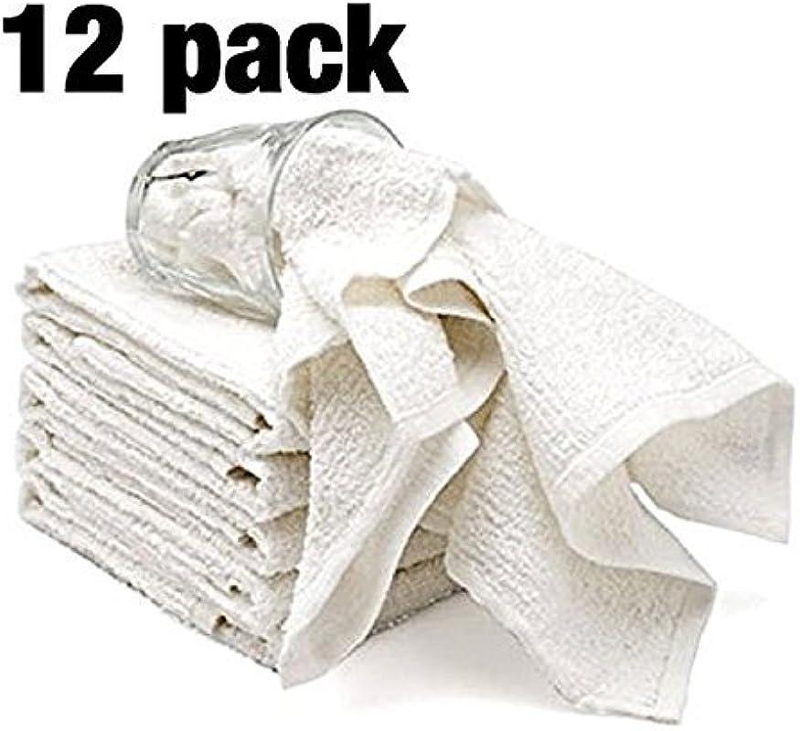 Bar Mop Cleaning Kitchen Dish Cloth Towels 100 Cotton Machine Washable Everyday Kitchen Basic Utility Bar Mop Dishcloth Set Of 12 White