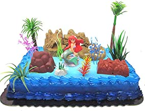 Under the Sea Little Mermaid Birthday Cake Topper Set Featuring Ariel and Decorative Themed Accessories