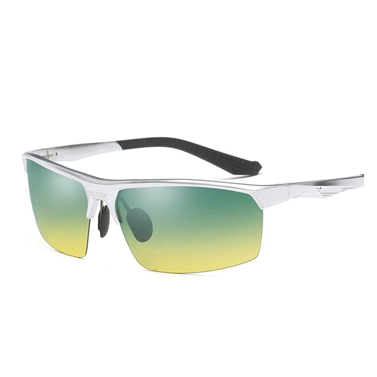 イブ着替える聡明ナイトビジョンメガネを運転するメンズアルミマグネシウム偏光サングラスアウトドアスポーツ