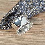 RichAmazon Anillos de servilleta de aleación de metal oro y plata mesa decorativa anillo de toalla de mesa al por mayor metal brillante color