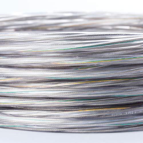 Kabel 3-adrig transparent Kunststoffleitung Stromkabel / 3x0,75mm² mit Erdleiter Elektrischer Draht