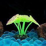 Danmu 1pc Glowing Effect Artificial Coral, Aquarium Coral Decor, Coral Ornaments, Plant Ornaments for Fish Tank Aquarium Decoration 1 9/10' x 3 9/10' (Orange)