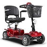 F-spinbike Fauteuil Roulant électrique Intelligent de Mini-Scooter à 4 Roues de véhicule électrique Pliant approprié aux Personnes âgées/handicapées Capacité de Charge jusqu'à 100KG