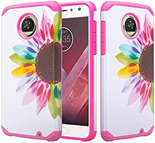 Motorola Moto Z2 Play Droid Case [Shock Absorption/Impact Resistant] Hybrid Dual Layer Armor Defender Protective Case Cove...