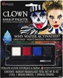Woochie Water Activated 4-Color Make Up Palette Kits - Professional Quality Halloween Costume Cosmetics - Clown