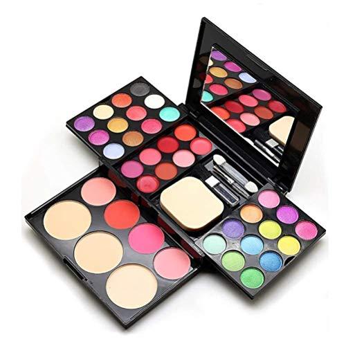 Ensemble de palettes cosmétiques, ombre oculaire Palette cosmétique pigments purs (ombre oculaire, blush, poudre, rouge à lèvres) + ensemble de brosses cosmétiques (39 palette de couleurs)