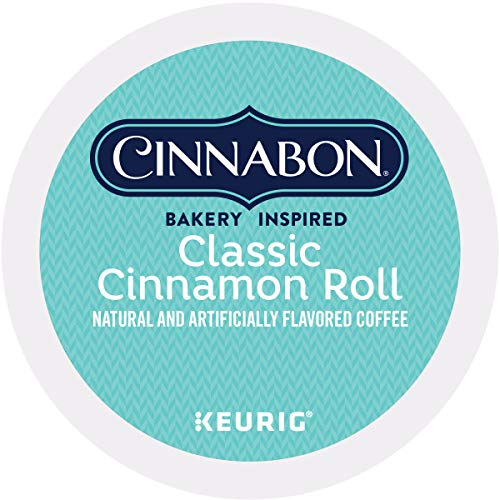 Cinnabon Classic Cinnamon Roll Keurig Single-Serve K-Cup Pods, Light Roast Coffee, 48 Count