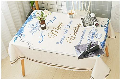 HOUZII Tischdecke rechteckig für Küche, Alice im Wunderland, Tischdecke Fleck staubdichtes Tuch dekorative Tabelle 140 x 200