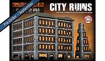 Flames of War 15mm City Ruins Contains a Complete City Block BB300