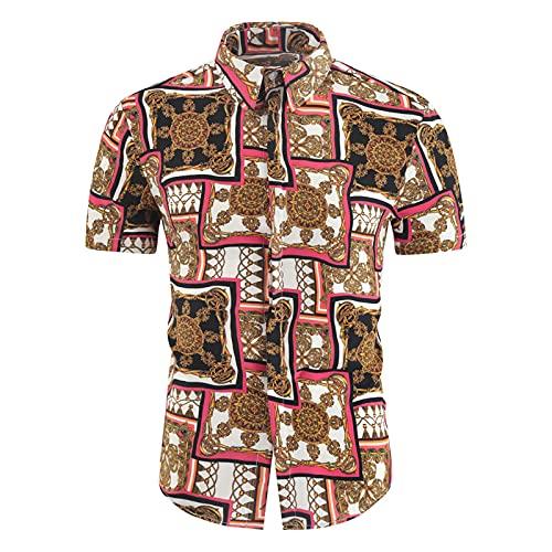 SSBZYES Herrenhemden Kurzarm Sommerhemden Herren Übergrößenhemden Herren Kurzarmhemden Bedruckte Hemden Kurzarm Mode Freizeithemden