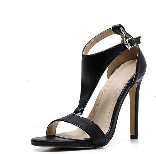 FELICIOO Sandales Sauvages de la Mode Mode des Femmes été Bouche de Poisson Sexy Sandales à Talons Hauts  magasin en ligne