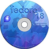 """Fedora Linux 18 """"Spherical Cow"""" - Both 32-bit and 64-bit Versions on One DVD"""