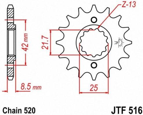 JT Front Sprocket 14T 520 Pitch JTF1321.14 Honda CBF 250 2004-2006