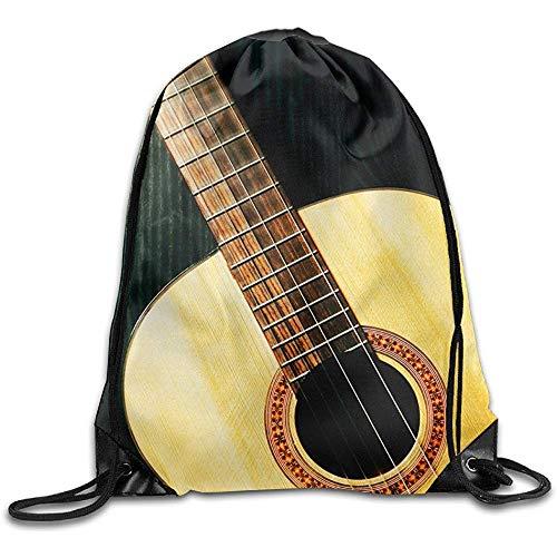 jingqi Gitarre Drawstring Bag Rucksack Draw Cord Bag Sackpack Sporttasche Sporttasche Große Leichte Turnhalle Für Männer Und Frauen Wandern Schwimmen Yoga