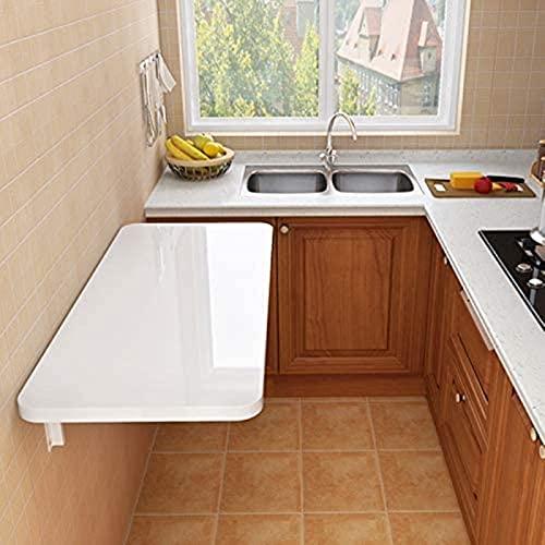 Mesa de Cocina de Hoja de Gota montada en la Pared Mesa de Comedor de Cocina Plegable Blanca, Ahorro de Espacio con Estilo, 20 tamaños (Color : Blue, Size : 120 * 50cm/47.24 * 19.69in)