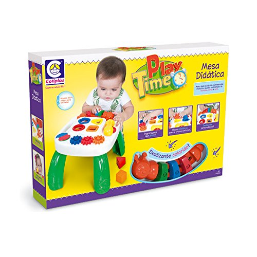 Cotiplás Brinquedo Educativo Mesa Play Time, Cotiplas, Multicores
