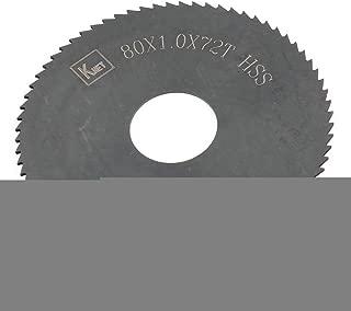 Aexit HSS 72 Blades Teeth 80mm x 1mm x 16mm Slitting Circular Saw Blades Saw Black