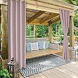 RTMX&kk Cortinas Opacas Termicas Aislantes Exterior Cortina de Exterior Impermeable Cortavientos y protección UV persianas de jardín y terraza 1 Pieza,W1.2*H1.5m