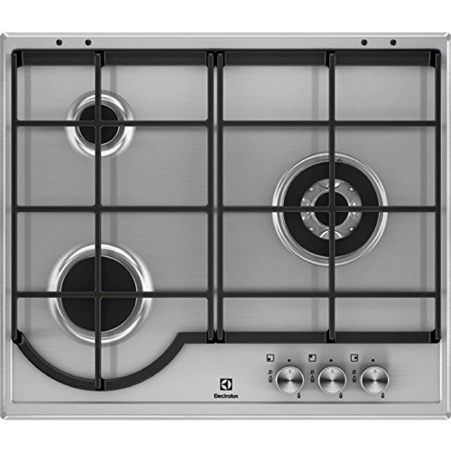 Electrolux EGH6333BOX hobs Acero inoxidable Integrado Encimera de gas - Placa (Acero inoxidable, Integrado, Encimera de gas, Acero inoxidable, 1000 W, 2,4 cm)