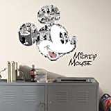 RoomMates Mickey Mouse Comic Peel And Stick Wall Graphic,Black
