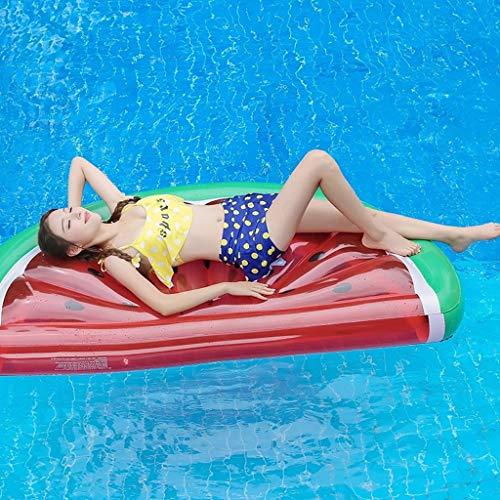 Halve watermeloen Waterhangmat Lounger Portable Float Rafts Zwembad Air Lichtgewicht drijvende stoel voor volwassenen en kinderen Strandfauteuil Opblaasbare PVC-zwemmat